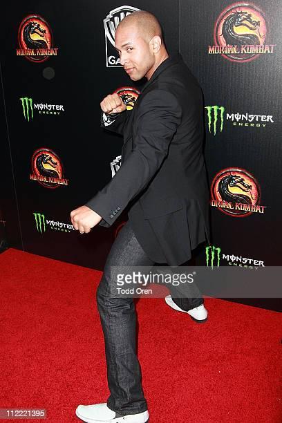 "Actor Shane Warren Jones attend the ""Mortal Kombat Legacy"" digital series premiere celebration at Saint Felix II on April 14, 2011 in Hollywood,..."