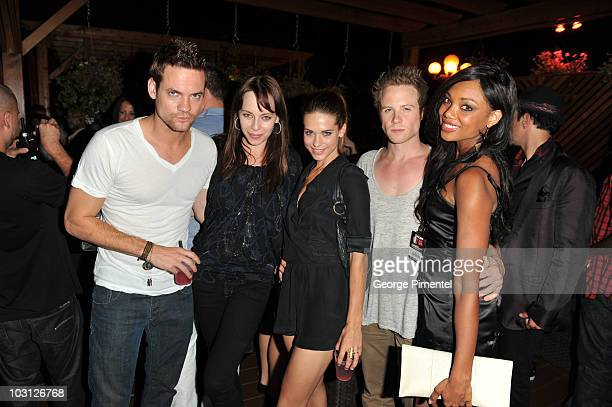 Actor Shane West actress Melinda Clarke actress Lyndsy Fonseca actor Ashton Holmes and actress Tiffany Hines attend the Bacardi VIP Room for the...