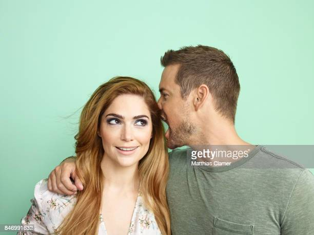 Actor Shane West and actress Janet Montgomery from 'Salem' are photographed for Entertainment Weekly Magazine on July 22 2016 at Comic Con in the...