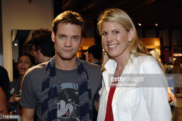 Actor Shane West and Martin Osa Brand Manager Leslie Ternes Smith attend the Martin Osa Party at the Newport Beach Film Festival on April 28 2008 in...