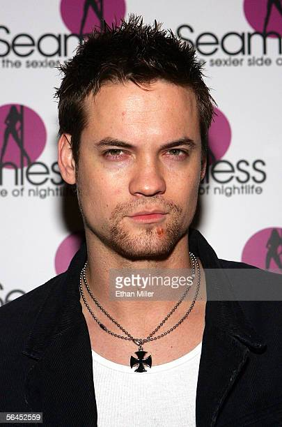 Actor Shane West arrives at the grand opening of the Seamless Adult Ultra Lounge early December 18 2005 in Las Vegas Nevada