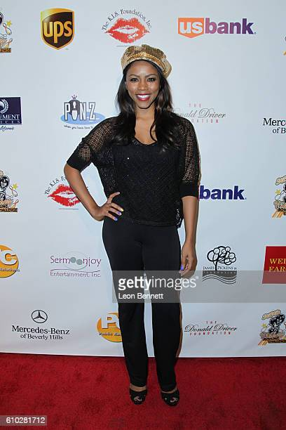 Actor Shanica Knowles attends KIS Foundation's 13th Annual Celebrity Bowling Challenge For Sickle Cell Disease Awareness Arrivals at PINZ...