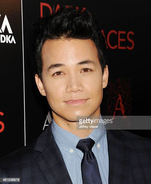 Actor Shannon Kook arrives at the Premiere Of DIRECTV's 'Dark Places' at Harmony Gold Theatre on July 21 2015 in Los Angeles California
