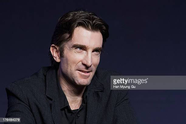 Actor Sharlto Copley attends during the 'Elysium' press conference at the Conrad Seoul on August 14 2013 in Seoul South Korea The film will open on...