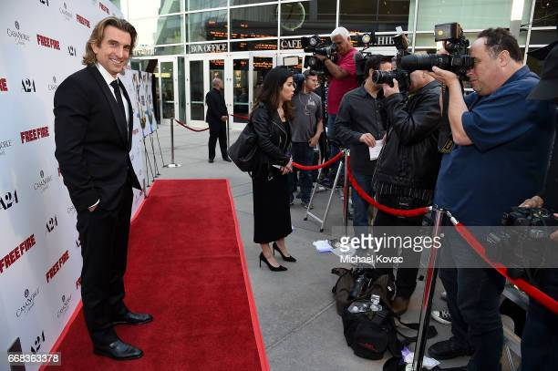 Actor Sharlto Copley attends The Los Angeles Premiere Of 'Free Fire' Presented By Casa Noble Tequila on April 13 2017 in Los Angeles California