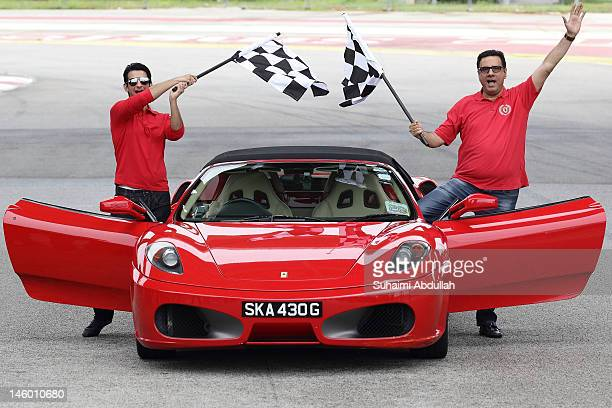 Actor Sharman Joshi and Boman Irani of the movie Ferrari Ki Sawaari pose for a photo during a media event at the 2012 International India Film...