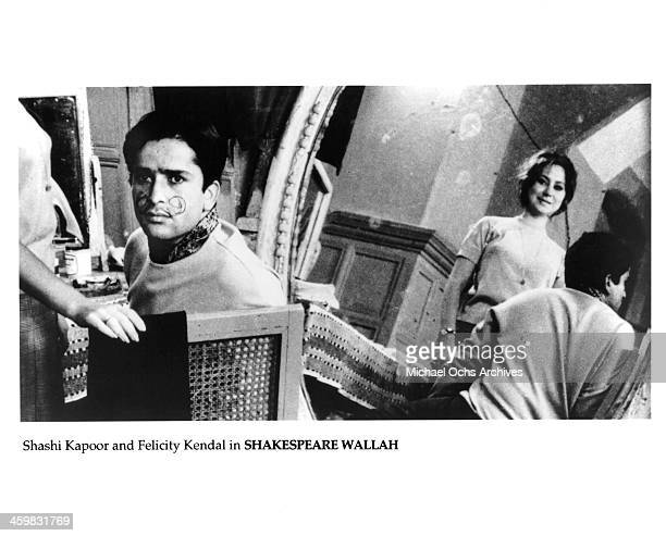 Actor Shashi Kapoor and Felicity Kendal on set of the movie ShakespeareWallah circa 1965