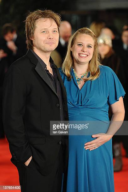Actor Shaun Dooley and wife Polly Cameron attend 'The Woman In Black' World Film Premiere at the Royal Festival Hall on January 24 2012 in London...