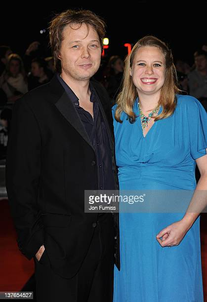 Actor Shaun Dooley with his wife Polly Cameron attend The Woman in Black World film premiere at the Royal Festival Hall on January 24 2012 in London...