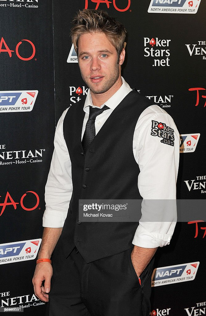 Actor Shaun Sipos attends the Pokerstars.net after party with performance by T-Pain at TAO Nightclub at the Venetian on February 19, 2010 in Las Vegas, Nevada.