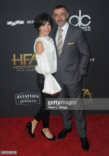 Actor Shaun Toub and wife Lorena Mendoza arrive for the 21st Annual Hollywood Film Awards held at The Beverly Hilton Hotel on November 5 2017 in...