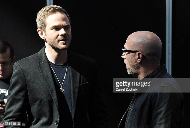 Actor Shawn Ashmore and director Marcos Siega attend Fox Network's 'The Following' press room at 2014 New York Comic Con Day 4 at Jacob Javitz Center...