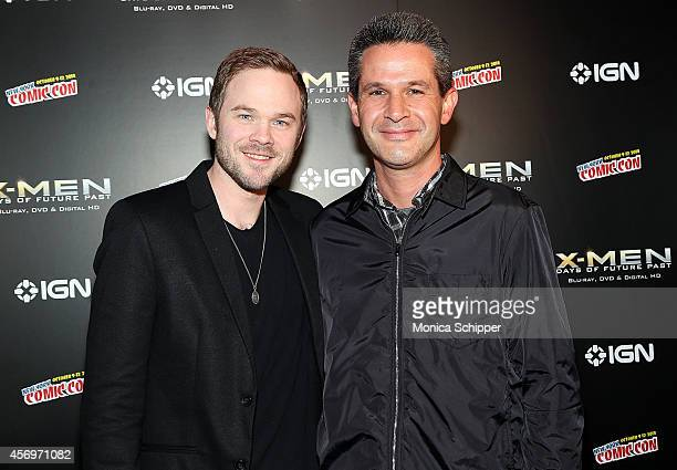 Actor Shawn Ashmore and writer/producer Simon Kinberg attend the 'XMen Days Of Future Past' Home Entertainment Release Party at Marquee on October 9...