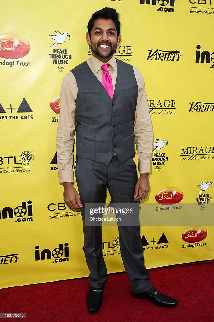 Actor Shawn Parikh arrives at Adopt the Arts' Peace Through Music celebrity gala at Loews Hollywood Hotel on September 15, 2013 in Hollywood, California.