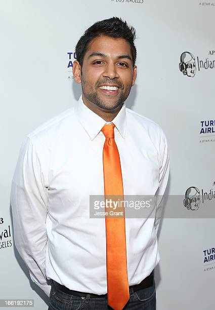 Actor Shawn Parikh attends the Indian Film Festival of Los Angeles Opening Night Gala for Gangs Of Wasseypur at ArcLight Cinemas on April 9 2013 in...