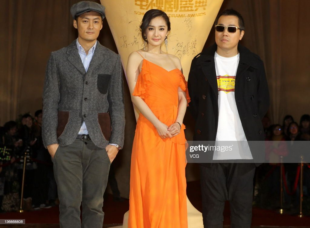 Actor Shawn Yue, actress Yang Mi and director Pang Ho-Cheung attend the SOHU.COM TV Drama Awards at Beijing Exhibition Center Theatre on January 11, 2012 in Beijing, China.