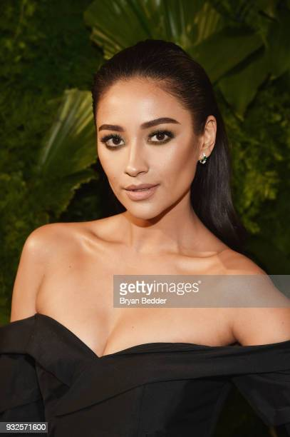 Actor Shay Mitchell attends the 2018 AE Upfront on March 15 2018 in New York City
