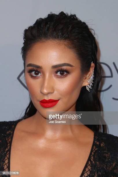 Actor Shay Mitchell attends the 2018 InStyle and Warner Bros 75th Annual Golden Globe Awards PostParty at The Beverly Hilton Hotel on January 7 2018...