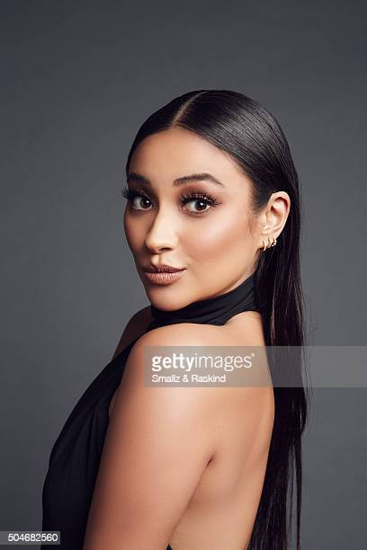 Actor Shay Mitchell poses for a portrait at the 2016 People's Choice Awards at the Microsoft Theater on January 6 2016 in Los Angeles California