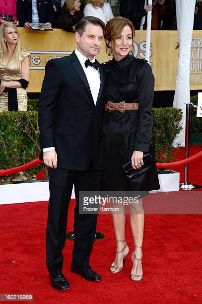 Actor Shea Whigham and Christine Whigham arrive at the 19th Annual Screen Actors Guild Awards held at The Shrine Auditorium on January 27 2013 in Los...