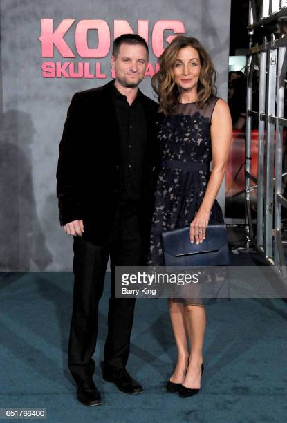 Actor Shea Whigham and Christine Whigham arrive for the Premiere of Warner Bros Pictures' 'Kong Skull Island' at Dolby Theatre on March 8 2017 in...