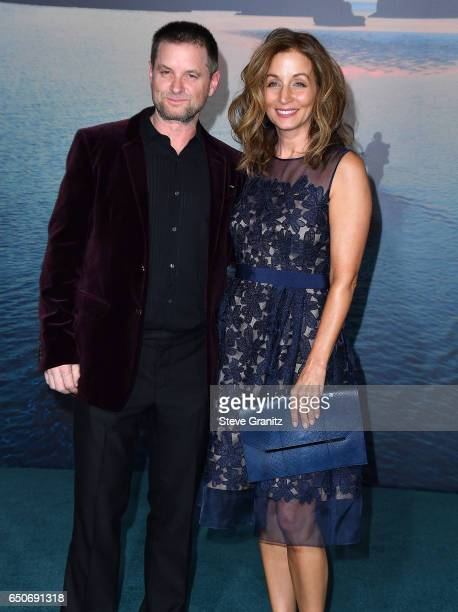 Actor Shea Whigham and Christine Whigham arrives at the Premiere Of Warner Bros Pictures' Kong Skull Island at Dolby Theatre on March 8 2017 in...