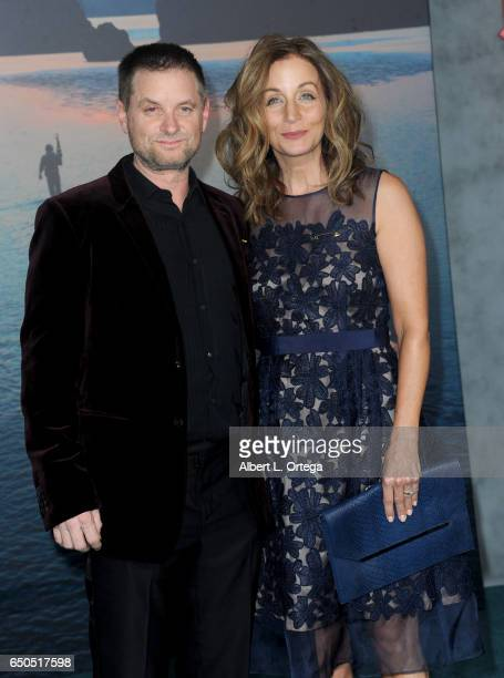 Actor Shea Whigham and Christine Whigham arrives for the Premiere Of Warner Bros Pictures' Kong Skull Island held at Dolby Theatre on March 8 2017 in...