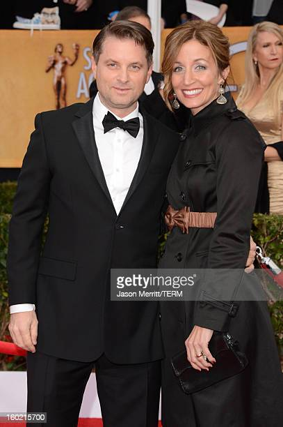 Actor Shea Whigham and Christine Whigham attend the 19th Annual Screen Actors Guild Awards at The Shrine Auditorium on January 27 2013 in Los Angeles...