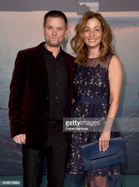 Actor Shea Whigham and Christine Whigham attend the premiere of Warner Bros Pictures' Kong Skull Island at Dolby Theatre on March 8 2017 in Hollywood...