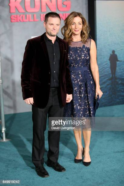 Actor Shea Whigham and Christine Whigham attend the premiere of Warner Bros Pictures' 'Kong Skull Island' at Dolby Theatre on March 8 2017 in...