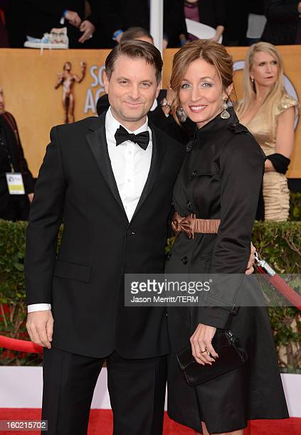 Actor Shea Whigham and Christine Whigham attends the 19th Annual Screen Actors Guild Awards at The Shrine Auditorium on January 27 2013 in Los...