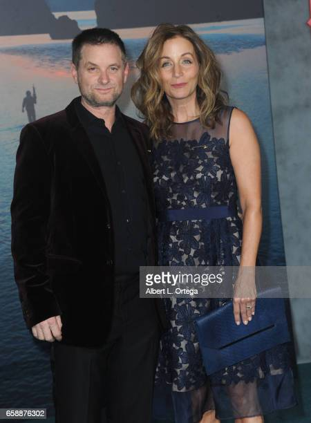 Actor Shea Whigham and wife Christine Whigham arrive for the Premiere Of Warner Bros Pictures' Kong Skull Island held at Dolby Theatre on March 8...