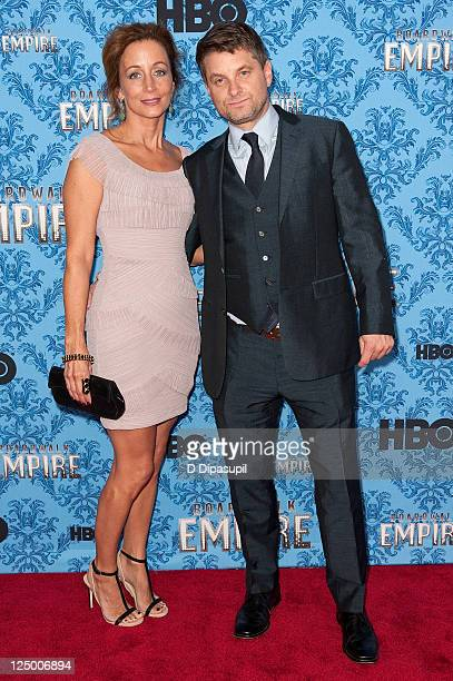 Actor Shea Whigham and wife Christine Whigham attend the Boardwalk Empire Season 2 premiere at the Ziegfeld Theater on September 14 2011 in New York...