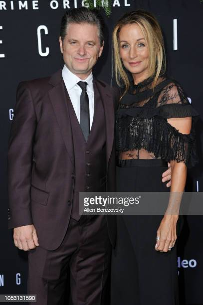 Actor Shea Whigham and wife Christine Whigham attend the premiere of Amazon Studios' Homecoming at Regency Bruin Theatre on October 24 2018 in Los...