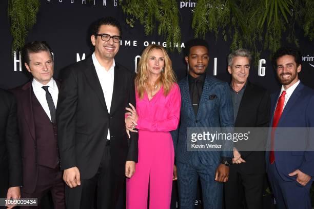 Actor Shea Whigham director/executive producer Sam Esmail actor Julia Roberts Stephan James Dermot Mulroney and cocreator/executive producer Eli...