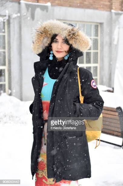 Actor Sheila Vand attends the 'We The Animals' Premiere during the 2018 Sundance Film Festival at Park City Library on January 20 2018 in Park City...