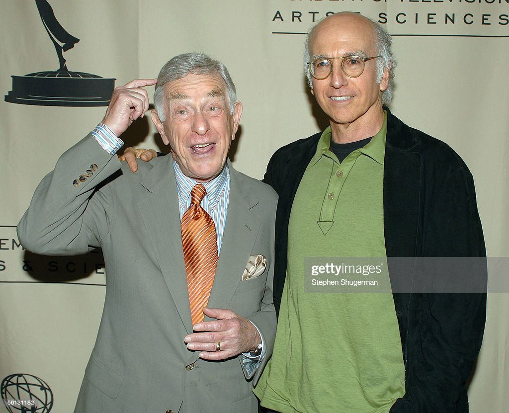 Actor Shelley Berman and actor Larry David attend ATAS Presents An Evening With 'Curb Your Enthusiasm' at The Academy of Television Arts & Sciences Theatre on November 9, 2005 in North Hollywood, California.