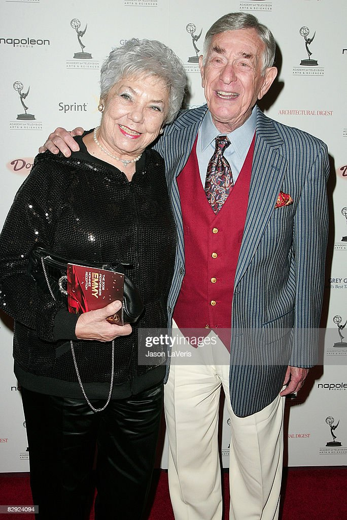 Actor Shelley Berman (R) and Sarah Herman attend the 60th primetime Emmy awards outstanding performance nominees event at The Pacific Design Center on September 19, 2008 in West Hollywood, California.