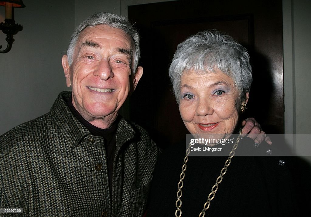 Actor Shelley Berman poses with his wife Sarah Herman at HBO's Annual Pre-Golden Globe Reception at Chateau Marmont on January 14, 2006 in Los Angeles, California.