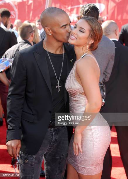 Actor Shemar Moore arrives at the 2014 ESPY Awards at Nokia Theatre LA Live on July 16 2014 in Los Angeles California