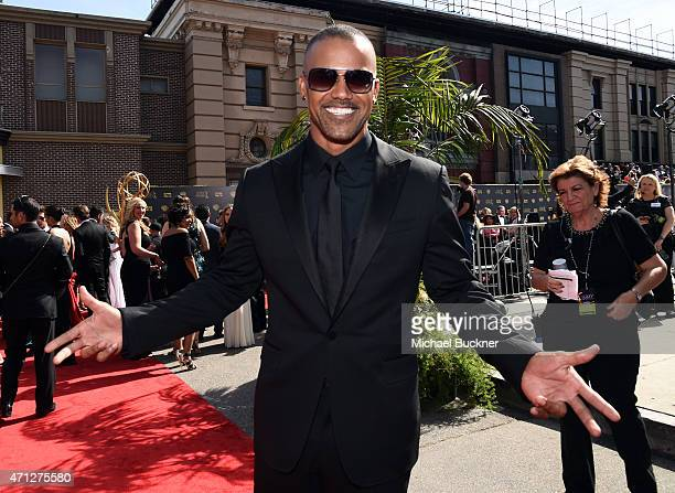 Actor Shemar Moore attends The 42nd Annual Daytime Emmy Awards at Warner Bros Studios on April 26 2015 in Burbank California