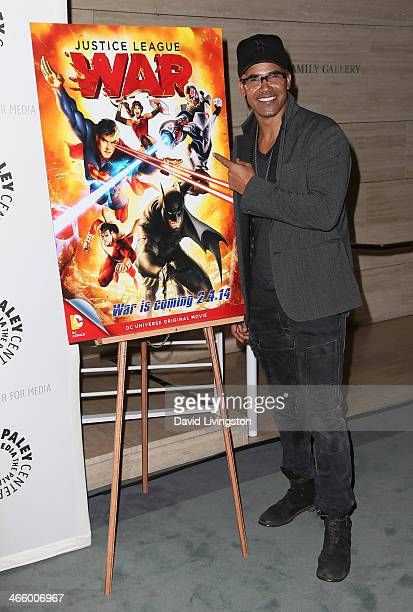 Actor Shemar Moore attends The Paley Center for Media and Warner Bros Home Entertainment premiere of Justice League War at The Paley Center for Media...