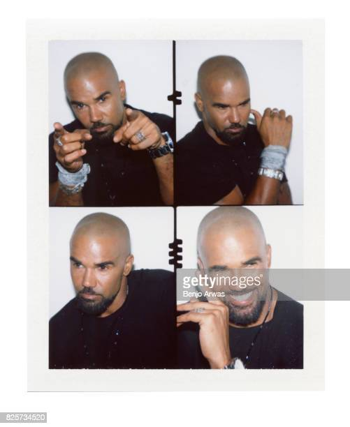 Actor Shemar Moore of CBS's 'SWAT' is photographed on polaroid film during the 2017 Summer Television Critics Association Press Tour at The Beverly...
