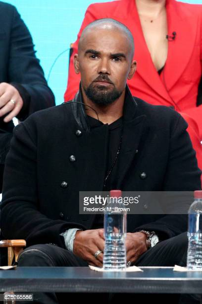 Actor Shemar Moore of 'SWAT' speaks onstage during the CBS portion of the 2017 Summer Television Critics Association Press Tour at The Beverly Hilton...