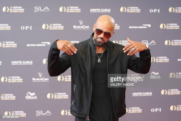 US actor Shemar Moore poses as she arrives for the opening of the 58th MonteCarlo Television Festival on June 15 2018 in Monaco