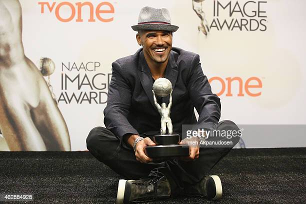 Actor Shemar Moore poses in the press room during the 46th NAACP Image Awards presented by TV One at Pasadena Civic Auditorium on February 6 2015 in...