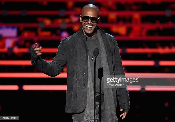 Actor Shemar Moore speaks onstage during the People's Choice Awards 2016 at Microsoft Theater on January 6 2016 in Los Angeles California