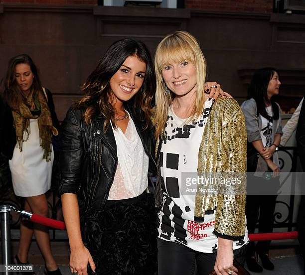 Actor Shenae Grimes and Teen Vogue EditorInChief Amy Astley attend the Teen Vogue celebration of Fashion's Night Out at West Village Bleecker Street...