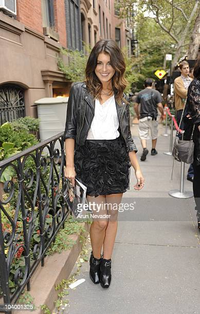Actor Shenae Grimes attends the Teen Vogue celebration of Fashion's Night Out at West Village Bleecker Street on September 10 2010 in New York City