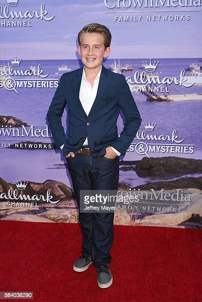 Actor Sheppard Denton attends the Hallmark Channel and Hallmark Movies and Mysteries Summer 2016 TCA press tour event at a private residence on July...